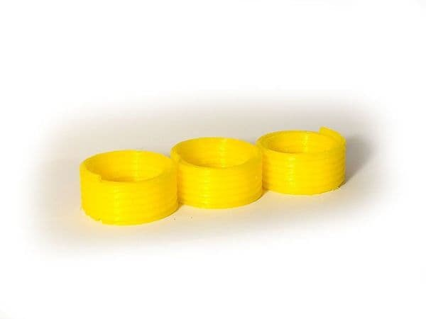 AX054-N 3D Printed Coiled Yellow Gas Pipe Wagon/Lorry Load (Pack of 3) N/2mm/1:148